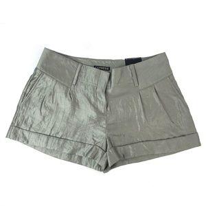 NWT Express Silver Shimmer Shorts